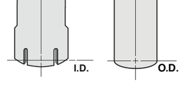 """Chrome Exhaust Stack Bull Horn Style 7"""" Reduced to 5"""" Bottom Diagram"""