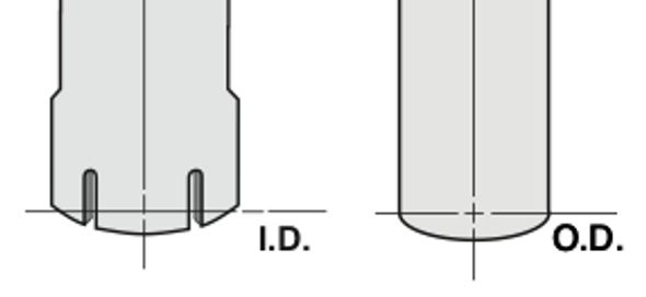 """Chrome Exhaust Stack Mitred Style 7"""" Reduced to 5"""" Diagram"""