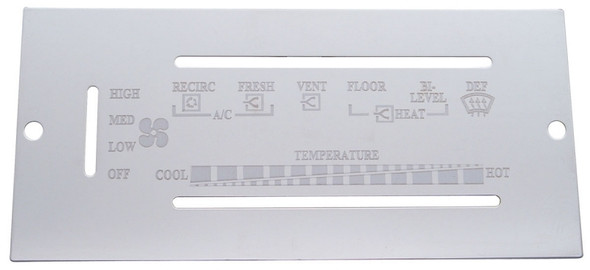 Peterbilt 1987-1995 Stainless Steel AC Control Plate