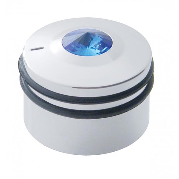 Peterbilt Deluxe Chrome AC Control Knob with Blue Diamond