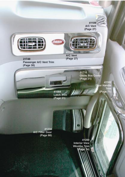 Peterbilt 2006+ Chrome Passenger AC Vent Outer Trim