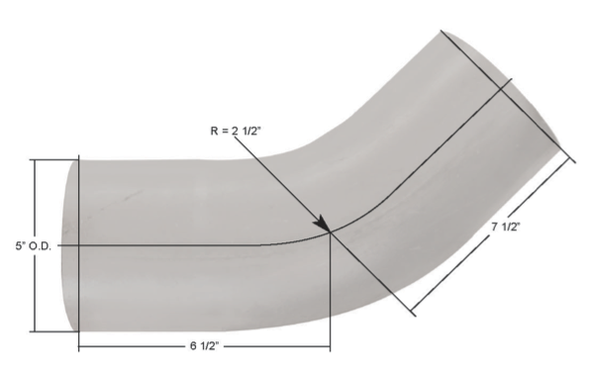 Kenworth 45 Degree Exhaust Elbow K180-13637