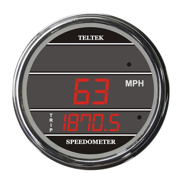 Truck Speedometer TelTek Gauge - Red