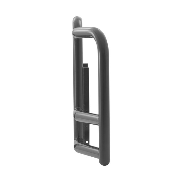 Freightliner Cascadia ProTec Grill Guard (Black Steel, 25° Angle; Side)