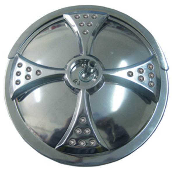 """Convex Mirror 8"""" Stainless Steel w/ Amber LED's Turn Signal"""