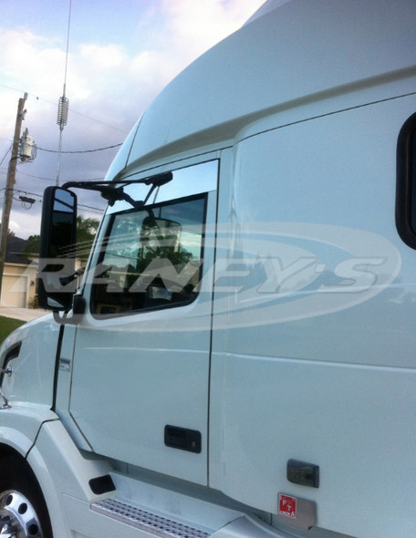 """Volvo VNL Series 5"""" Chop Top Stainless 2004 & Newer Angled"""