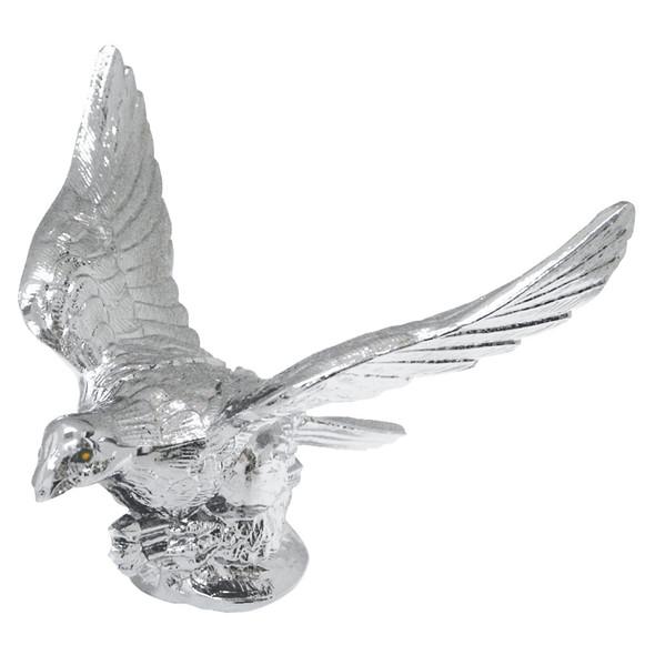 Chrome Eagle Hood Ornament With Illuminated Eyes