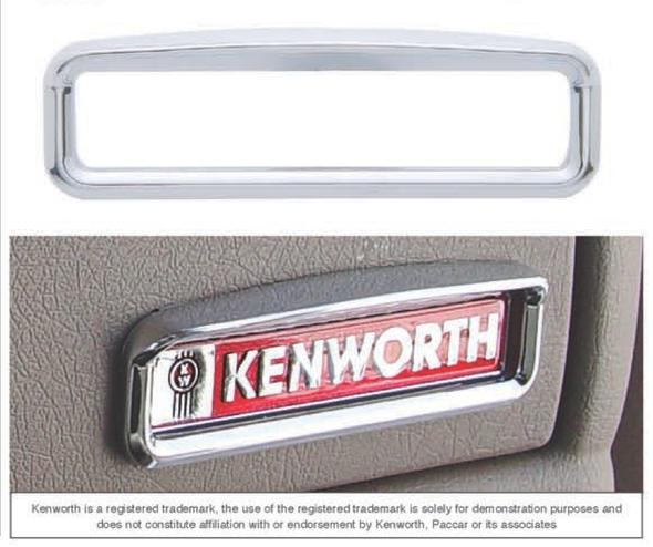 Kenworth Glove Box Emblem Visor Chrome Trim