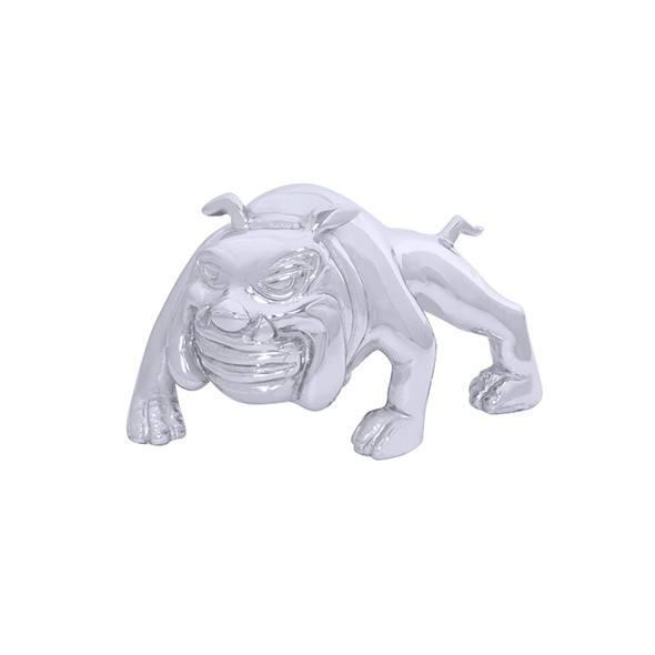 Chrome Bull Dog Hood Ornament