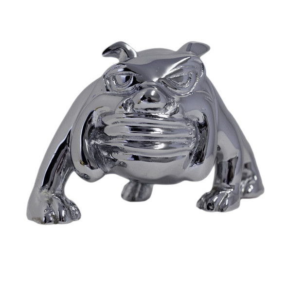 Chrome Bull Dog Hood Ornament By Grand General