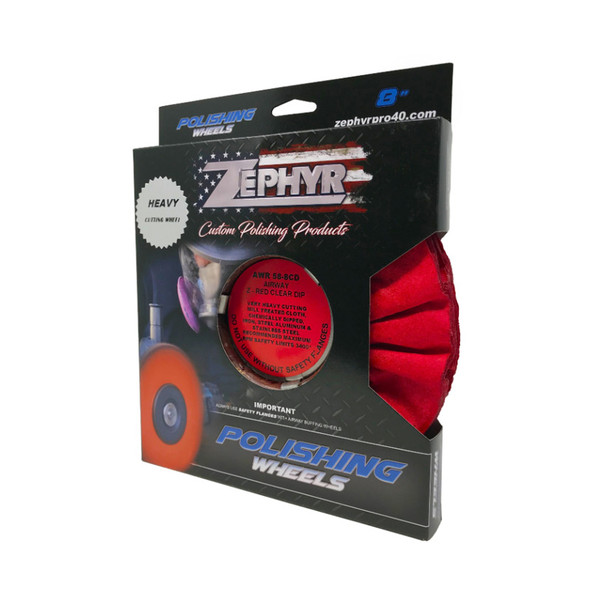 Zephyr Z-Red Clear Dip Heavy Cutting Airway Buffing Wheel Package