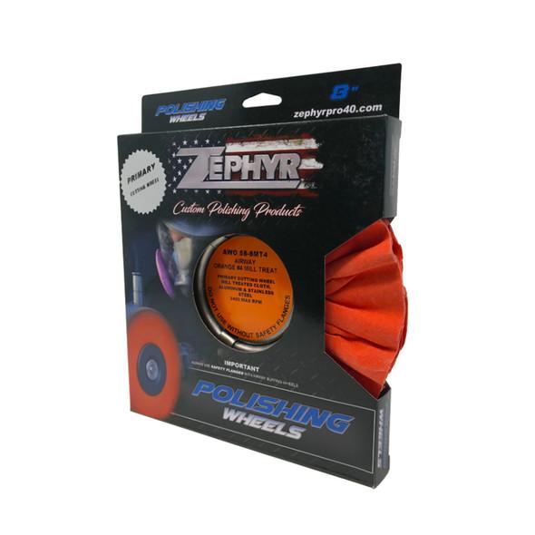 Zephyr Orange #4 Medium Heavy Cutting Airway Buffing Wheel