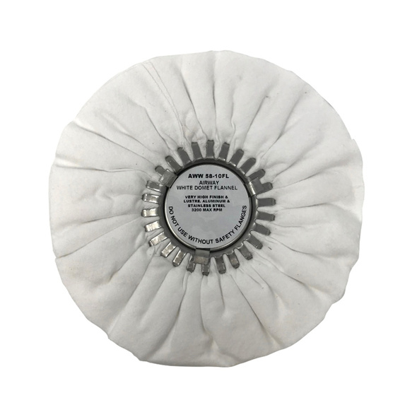 """White Domet Flannel Final Finish Buff Airway Buffing Wheel 10"""""""