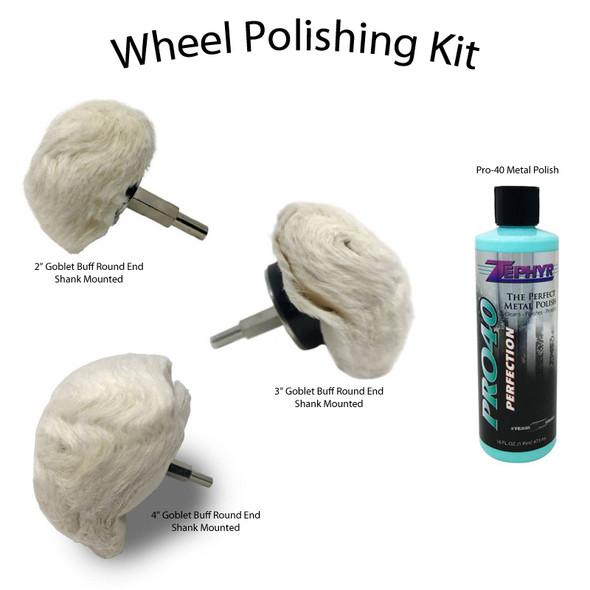 Zephyr Wheel Polishing 4 piece Kit Contents