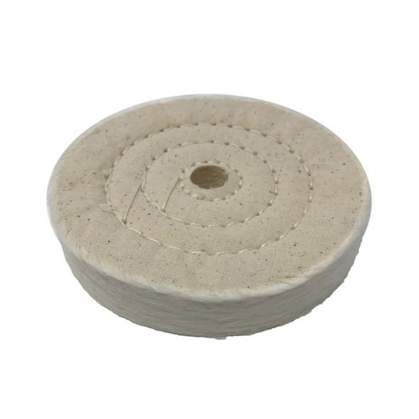 "Zephyr 4"" Cotton Muslin 50ply Final Finish Buffing Wheel"
