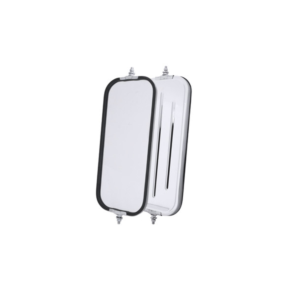 West Coast Ribbed Back Mirror 7 x 16 Stainless Steel