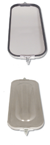 West Coast Bubble Back Mirror 7 x 16 Stainless Steel By Grand General