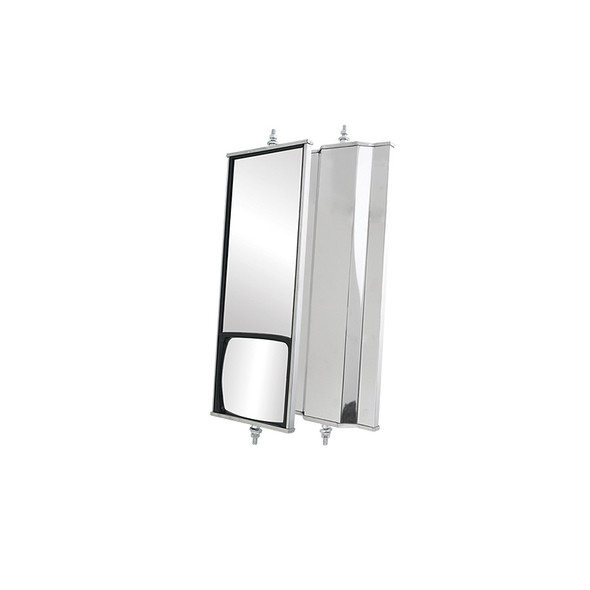 West Coast Combination Mirror 6 x 16 Stainless Steel