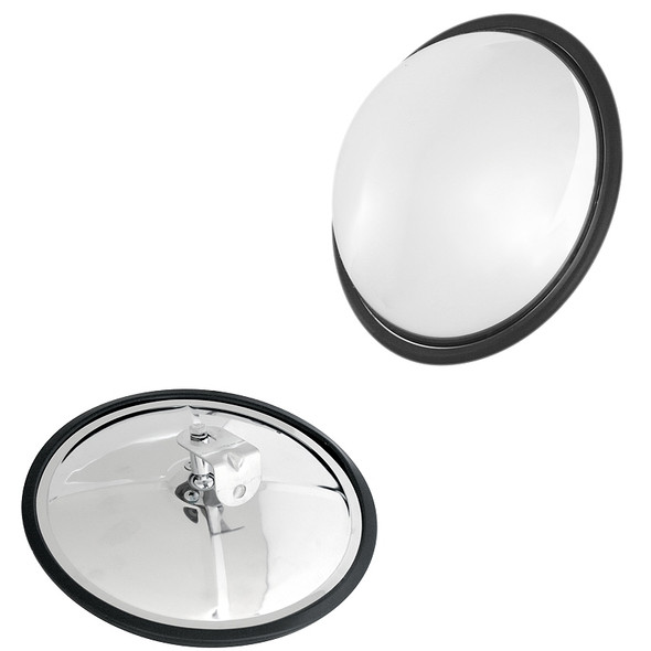 """Convex Wide Angle View Mirror 8 1/2"""" Stainless Steel"""