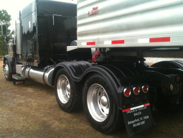 "Minimizer Double Deuce Poly Truck Fenders Tandem Axle 52"" Spread Black"