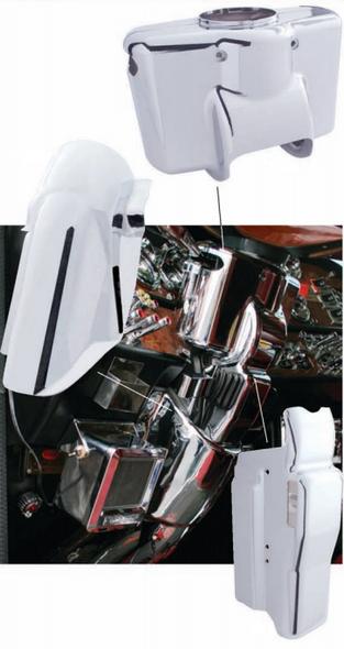 Peterbilt 2005 & Older Chrome Steering Column Cover Complete Set