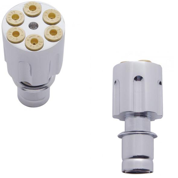 Chrome Gun Cylinder Cigarette Lighter