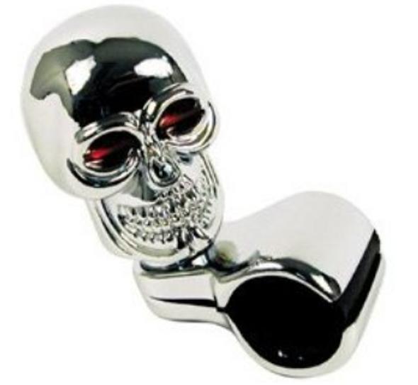 Universal Chrome Skull Steering Wheel Spinner