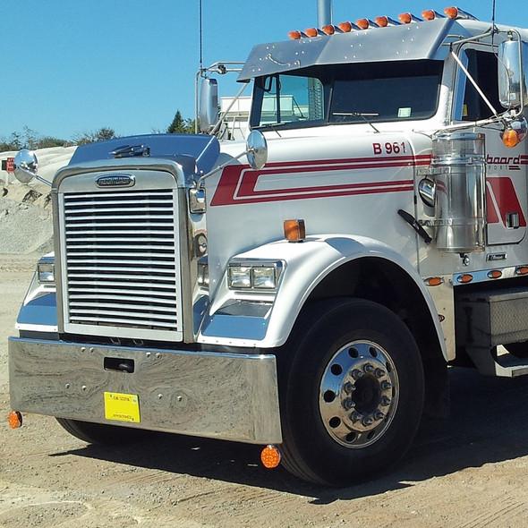 Freightliner Cabover FLD Chrome Bumper Left Side