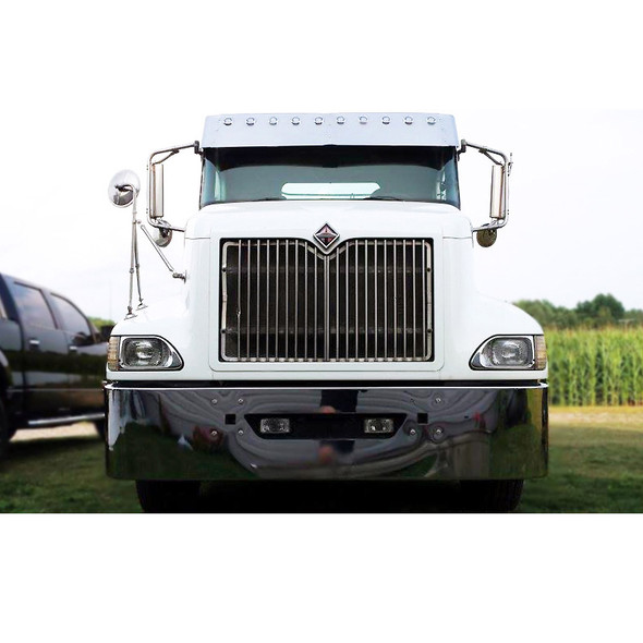 International 9100 9200 9400 Chrome Bumper Set Back Axle 18in - Front