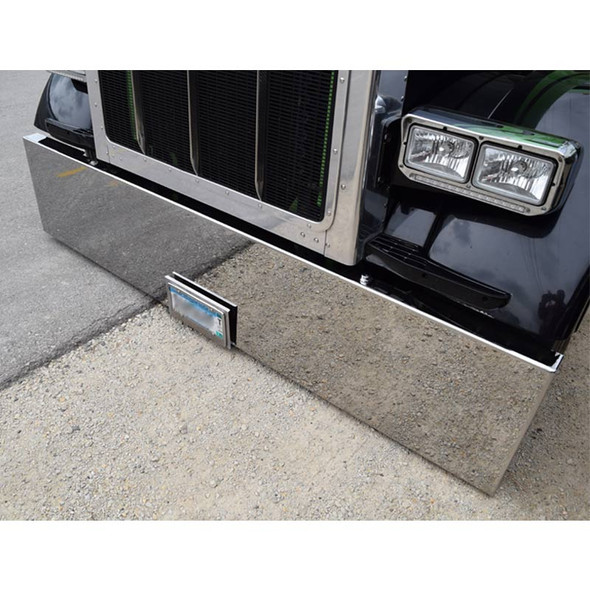 Universal Chrome Bumper Boxed End Top Angle View