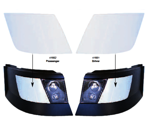 Chrome Volvo 2003+ Bumper Trim