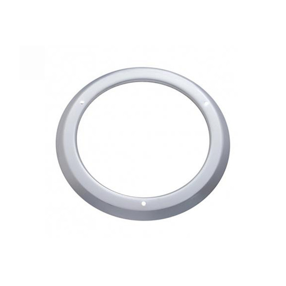 """4"""" Round Stainless Steel Bezel With Grommet Mounted"""