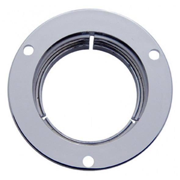Round Chrome Plastic Mounting Bezel Security Flange