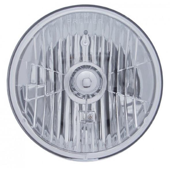 "7"" Round Crystal Headlight With Sylvania Halogen Bulb"
