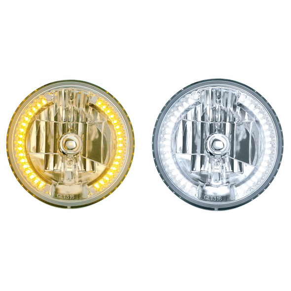"""7"""" Round Crystal Headlight With 34 Auxiliary LEDs"""