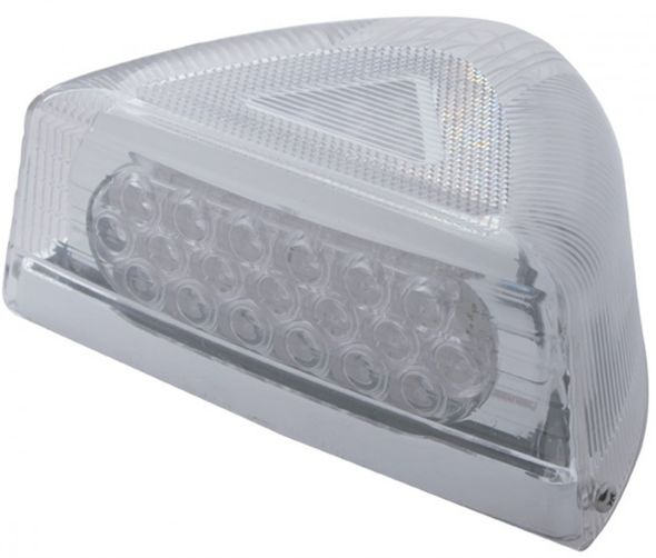 Peterbilt Turn Signal Light 37 LED w/ Clear Lens & Chrome Base