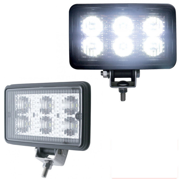 High Power Rectangular LED Work Light Extra Bright