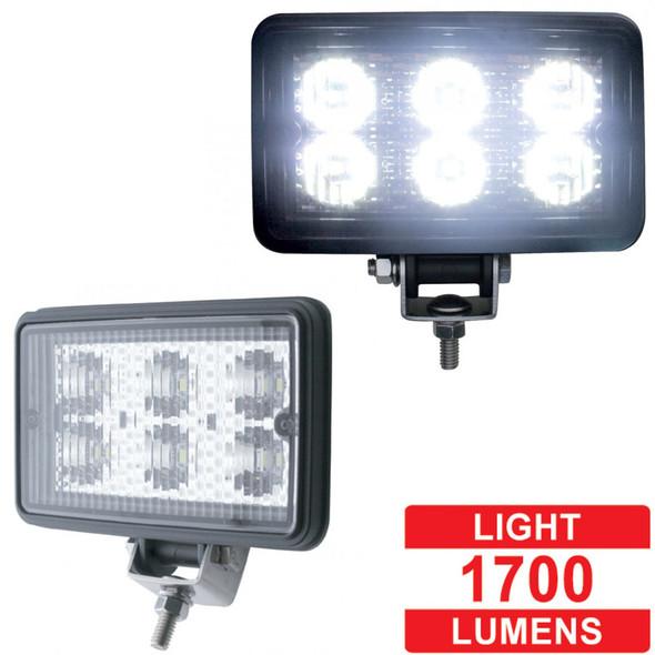 High Power Rectangular LED Work Light Extra Bright - Lumens