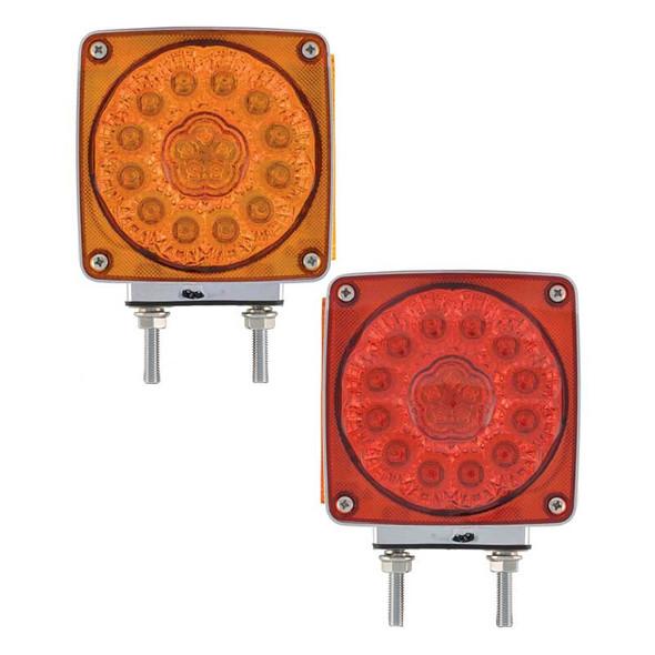 Super Diode Double Face LED Lights Amber Lens Red Lens