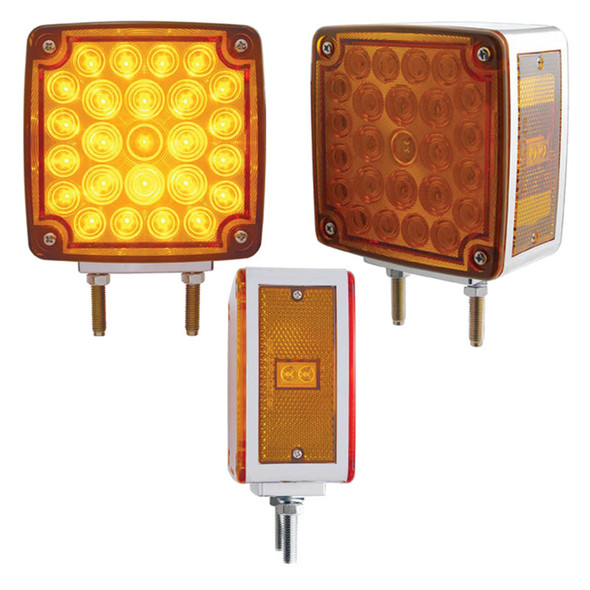 52 LED Square Double Face Turn Signal Light With Side LED Different Views