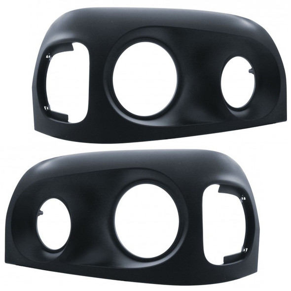 Freightliner Century Blacked Out Headlight Bezels Both Sides 2005 And Newer