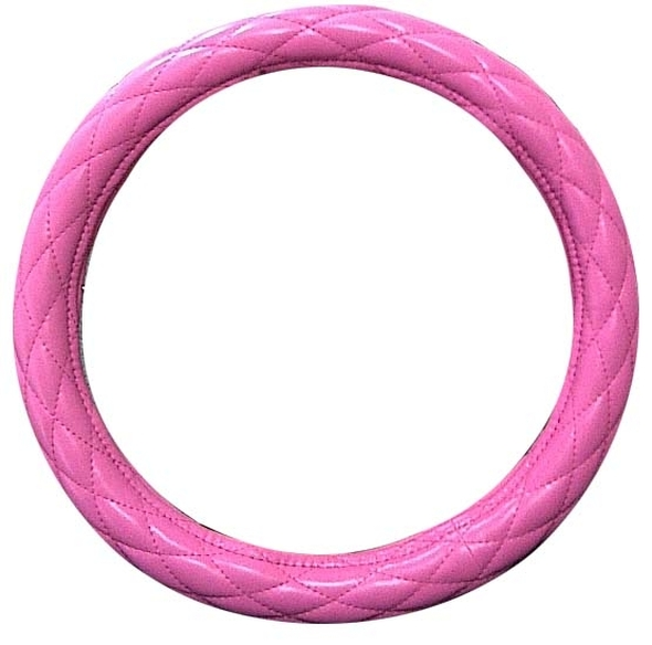 "18"" Diamond Cushion Pink Steering Wheel Cover"