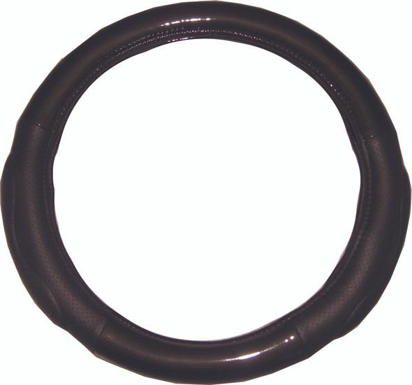 "18"" Memory Foam Black Carbon Fiber Style Steering Wheel Cover"