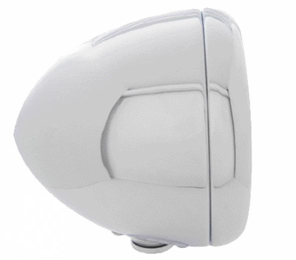 Chrome Classic Guide Headlight H4 Bulb w/ Amber LED - Driver & Passenger