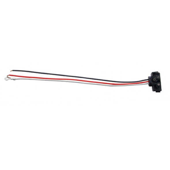 """Right Angle 3-Pin Wire Stop Turn Tail Plug 10"""" Leads"""