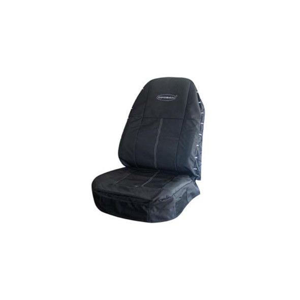 Coverall High Quality Polyester Canvas Seat Cover - Black