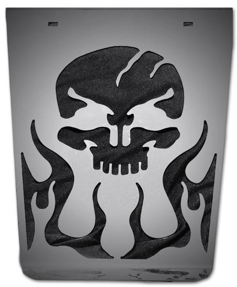 Stainless Ghost Rider Anti-Sail Mud Flap Plate