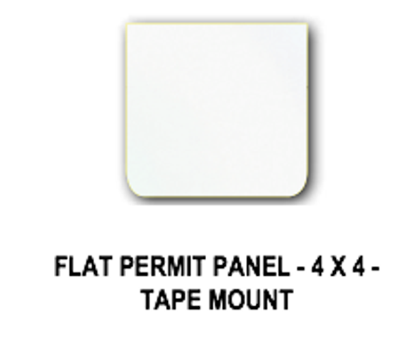 Universal Permit Panel Polished Stainless Steel Tape Mount