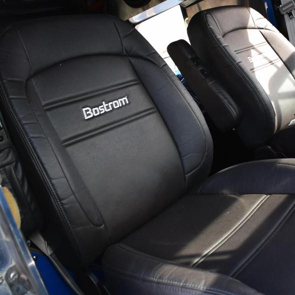 Low Profile Pro Ride Bostrom Seat Ultra Leather Black In Truck