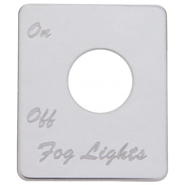Peterbilt Stainless Steel Fog Light Switch Plate